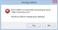 Ammy Admin ошибка 12007 в Windows 8